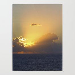 Sunset, Amalphi coast, Italy 2 Poster