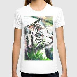 WHITE TIGER WATERCOLOR T-shirt