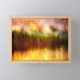 Concept Digital painting : The lake Framed Mini Art Print