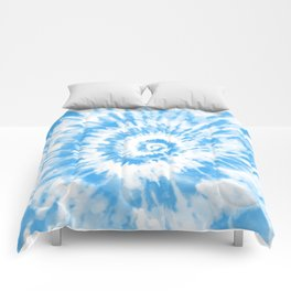 Light Ocean Blue Tie Dye Comforters
