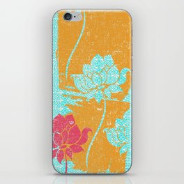 Crayon Bright Very Happy Floral Collage Abstract iPhone Skin