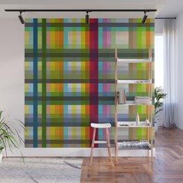 Colorful Grid Nariphon Wall Mural