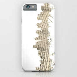 Boston Massachusetts Skyline Sheet Music Cityscape iPhone Case