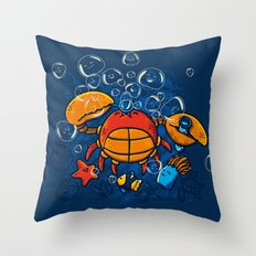 Jellyfishes Birth Throw Pillow