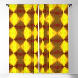 Bold Red, Green and Gold Repeating Pattern Blackout Curtain