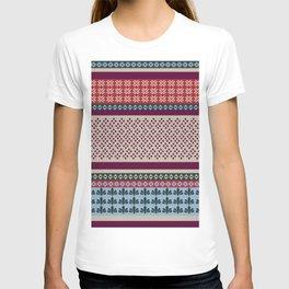 Ethnic Bohemian Quilt Motif Pattern T-shirt