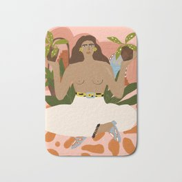Crazy Plant Lady II Bath Mat