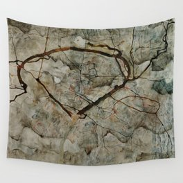 """Egon Schiele """"Autumn Tree in Stirred Air (Winter Tree)"""" Wall Tapestry"""
