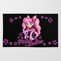 sailormoon Area & Throw Rugs featuring Pink Ladies by Ellador