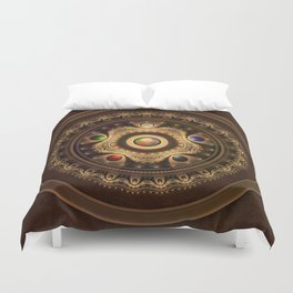 Gathering the Five Fractal Colors of Magic Duvet Cover