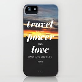 Travelling // #TravelSeries iPhone Case