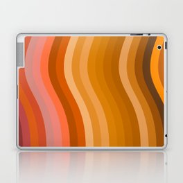 Groovy Wavy Lines in Retro 70s Colors Laptop & iPad Skin