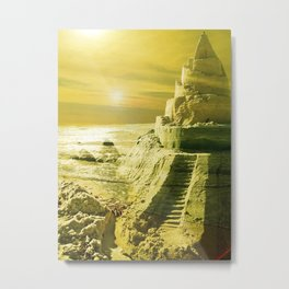 I want to live in a Castle. Metal Print