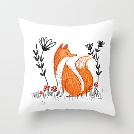 Fox Life Throw Pillow