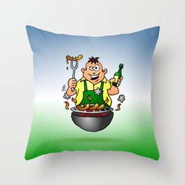 BBQ - Grill Throw Pillow