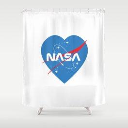 Love Nasa Shower Curtain