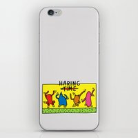 keith haring iPhone & iPod Skins featuring Haring Time by le.duc