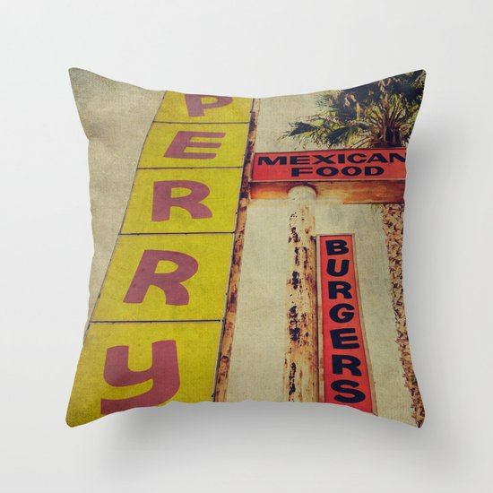 Perry's Vintage Sign Throw Pillow