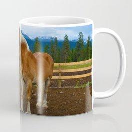 Horses in Jasper National Park, Canada Coffee Mug
