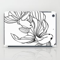 foo fighters iPad Cases featuring Dance of the Fighters by Heidi Denney