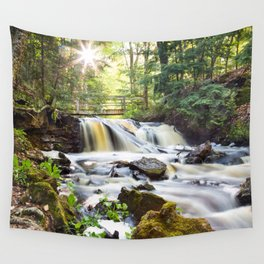 Upper Chapel Falls at Pictured Rocks National Lakeshore - Michigan Wall Tapestry