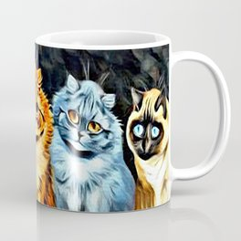 "Louis Wain's Cats ""Five Cats"" Coffee Mug"