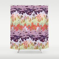 crystal Shower Curtains featuring Crystal Forest by LordofMasks