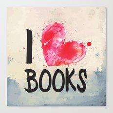I Heart Books typography  Canvas Print