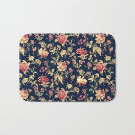 Shabby Floral Print Bath Mat