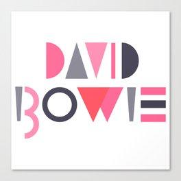 Memphis Bowie Canvas Print