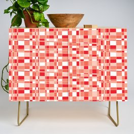 Mod Gingham - Red Credenza