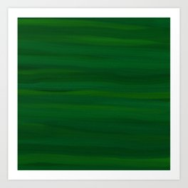 Emerald Green Stripes Abstract Art Print