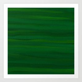 Emerald Green Stripes Abstract Art Print