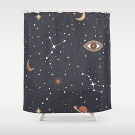 Mystical Galaxy Shower Curtain