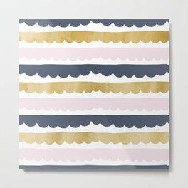 Trifle Pastel Gold Metal Print