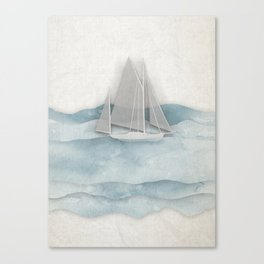 Floating Ship Canvas Print