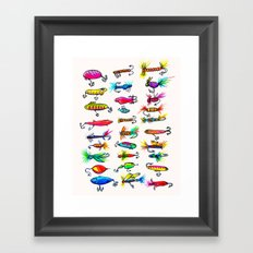 All the Fishing Lures - Illustration Framed Art Print