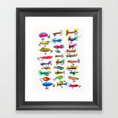 All the Fishing Lures - Illustration  Framed Art Print