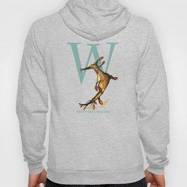 W is for Weedy Sea Dragon: Under Appreciated Animals™ ABC nursery decor orange unusual animals Hoody
