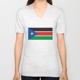 south sudan flag Unisex V-Neck