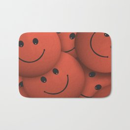 Orange Smileys Bath Mat