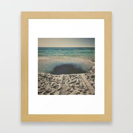 sink hole Framed Art Print