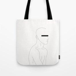 LINE #1 (White) Tote Bag