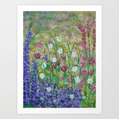 Corner of the garden Art Print