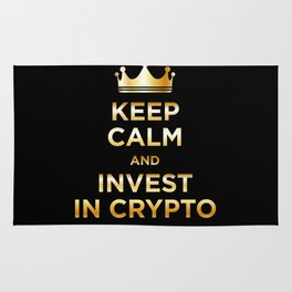 Keep Calm and Invest Rug