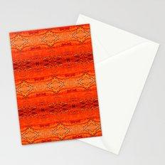 Orange Aztec Pattern 2 Stationery Cards