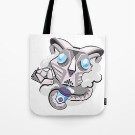 CAT MECH STICKER - VAPORZOO Tote Bag