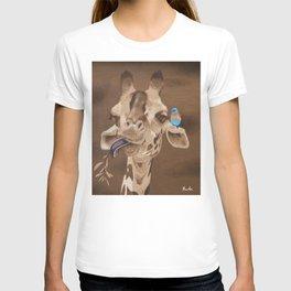 Giraffe with Bird T-shirt