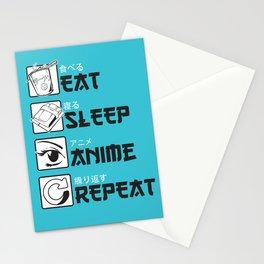 Eat Sleep Anime Stationery Cards