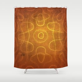 Chladni Pattern - Yellow by Spencer Gee Shower Curtain